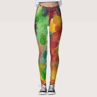 Abstract watercolor leggings