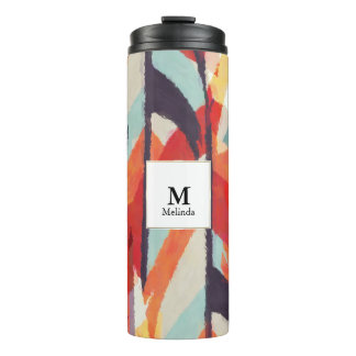 Abstract Watercolor Monogram Tumbler