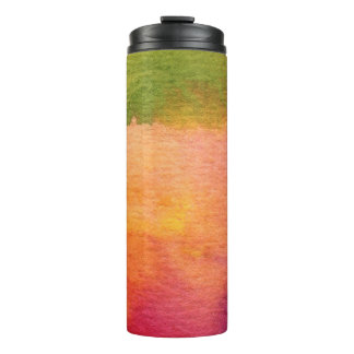 Abstract watercolor painted background thermal tumbler