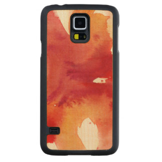 Abstract watercolor paintings carved maple galaxy s5 case