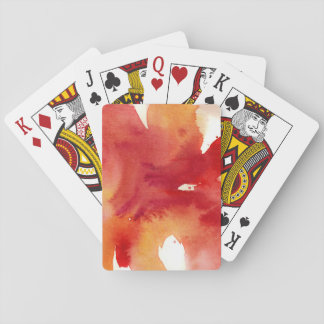 Abstract watercolor paintings playing cards