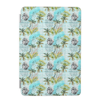 Abstract Watercolor Palm Tree Pattern iPad Mini Cover