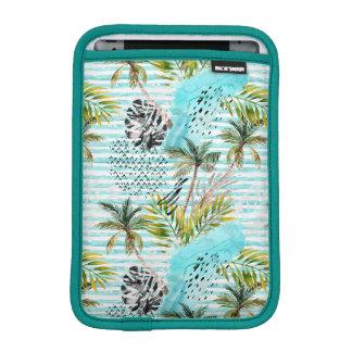 Abstract Watercolor Palm Tree Pattern iPad Mini Sleeve