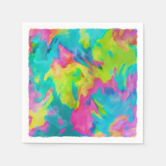 Abstract Watercolor Paper Napkin