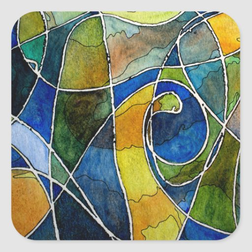 Abstract Watercolor Pen & Ink