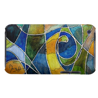 Abstract Watercolor Pen & Ink Barely There iPod Covers