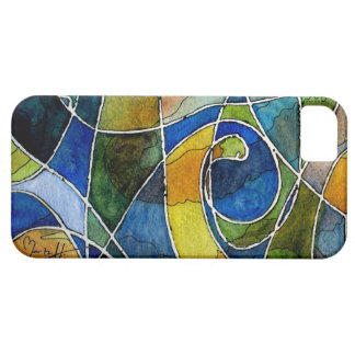 Abstract Watercolor Pen & Ink iPhone 5 Case