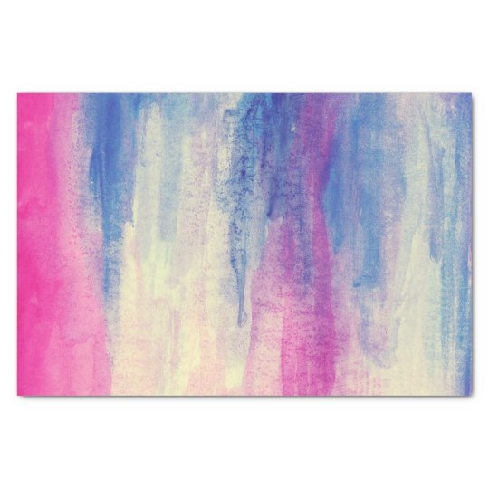 Abstract Watercolor Pink Blue White Tissue Paper