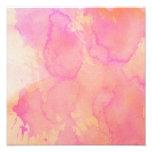 Abstract Watercolor Pink Orange Apricot Yellow Photo Art