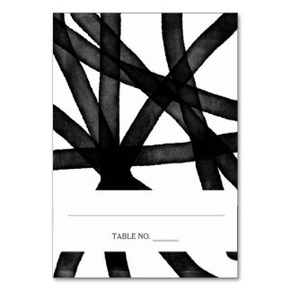 Abstract Watercolor | Place Cards *fold in half Table Cards