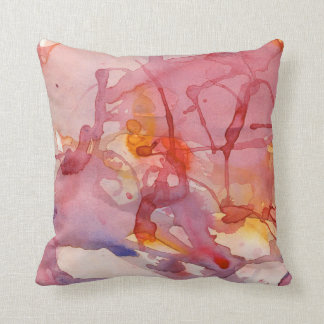 Abstract Watercolor Splash American MoJo Pillow