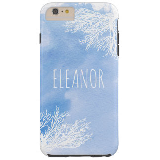 Abstract watercolor splash and blue reef trendy tough iPhone 6 plus case