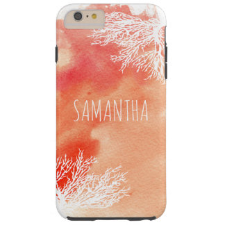 Abstract watercolor splash and coral reef trendy tough iPhone 6 plus case