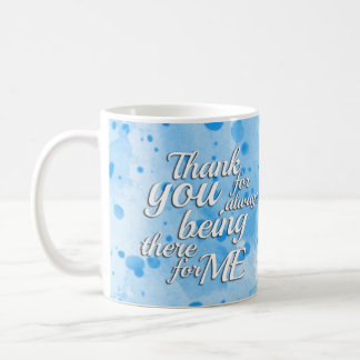 Abstract Watercolor Splatter in Blue Coffee Mug