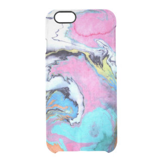 Abstract Watercolor Swirl Clear iPhone 6/6S Case