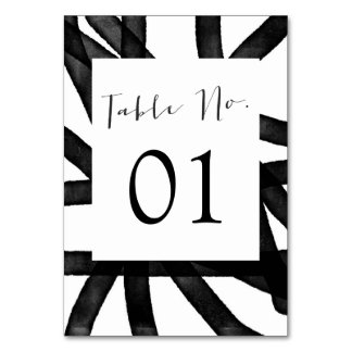 Abstract Watercolor | Table Numbers Table Card