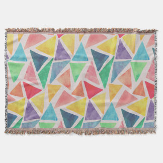 Abstract Watercolor Triangles | Throw Blanket