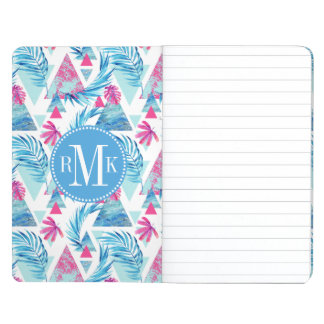 Abstract Watercolor Tropical Leaf Pattern Journal