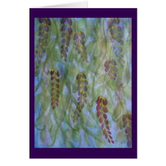 Abstract watercolor wisteria throw card