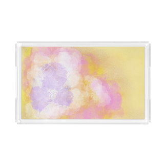 Abstract Watercolors - Orange Background