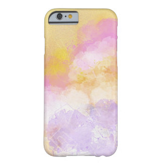Abstract Watercolors - Orange Background Barely There iPhone 6 Case
