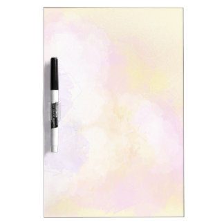 Abstract Watercolors - Orange Background Dry Erase Board