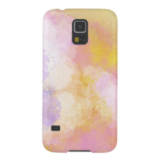 Abstract Watercolors - Orange Background Galaxy S5 Cases