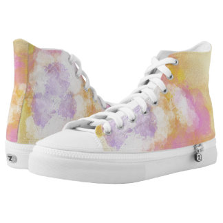Abstract Watercolors - Orange Background High Tops