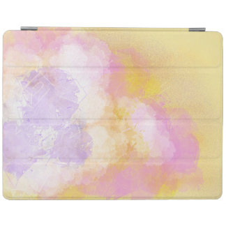 Abstract Watercolors - Orange Background iPad Cover