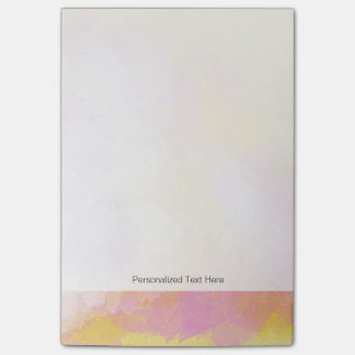 Abstract Watercolors - Orange Background Post-it Notes