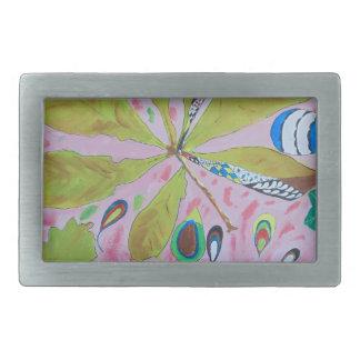 Abstract watercolour artwork belt buckle