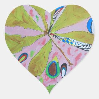 Abstract watercolour artwork heart sticker