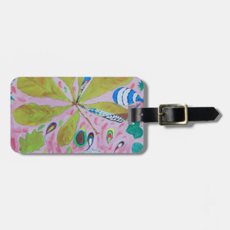 Abstract watercolour artwork luggage tag
