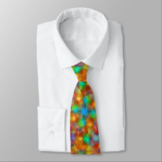 Abstract Watercolour Bubbly Pattern Neck Tie