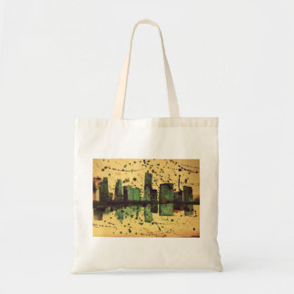 Abstract Watercolour Cityscape Tote Bag