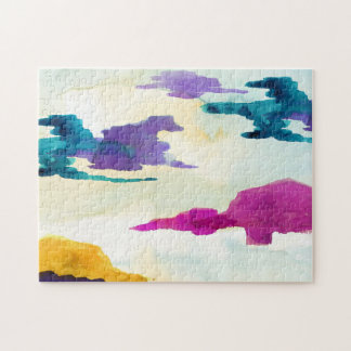 Abstract Watercolour Landscape Jigsaw Puzzle