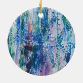 Abstract Waterfall Christmas Ornament