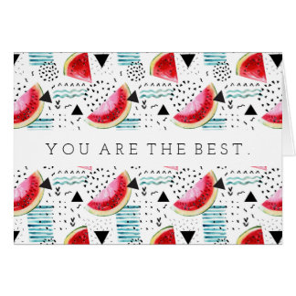 Abstract Watermelon Pattern Card