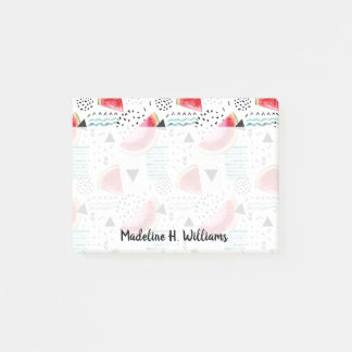 Abstract Watermelon Pattern Post-it Notes