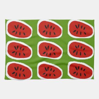 Abstract Watermelon Slices Tea Towel
