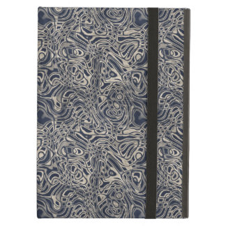 Abstract Watery Blue Waves and Swirls Pattern iPad Air Case