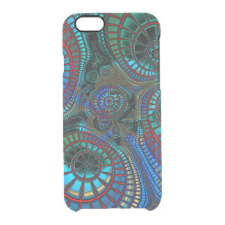 "Abstract ""wave"" fractal clear iPhone 6/6S case"