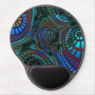 Abstract Wave-Fractals Gel Mouse Mat