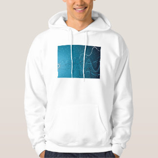 abstract wave hoodie