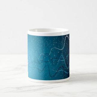abstract wave magic mug