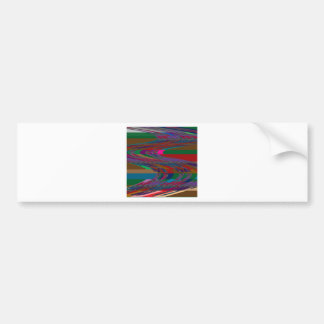 Abstract Wave RACE COURSE Gamble Horses Bet FUN Bumper Stickers