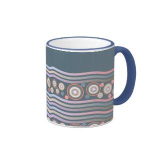 Abstract Waves and Circles Coffee Mugs