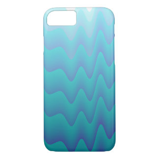 Abstract Waves in Turquoise iPhone 7 Case