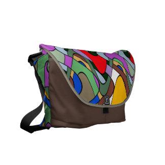 Abstract Waves Messenger Bag