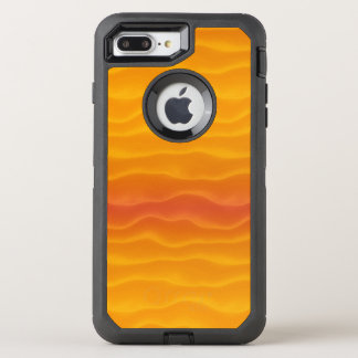 Abstract Waves of Yellow and Orange OtterBox Defender iPhone 8 Plus/7 Plus Case